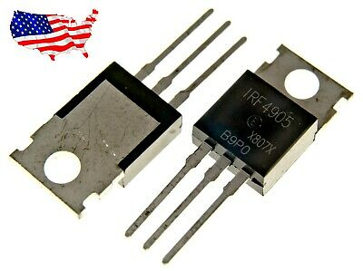 Irf4905 5 Pcs P-channel 74a 55v To-220 Power Mosfet - From Usa