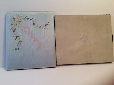 Vintage Baby Book First 7 Years Milestones Record Book Unused In Box BLUE