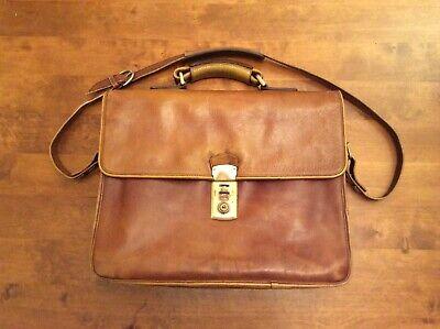 Vintage Hidesign 4 compartment Tan Men's Business Shoulder Bag
