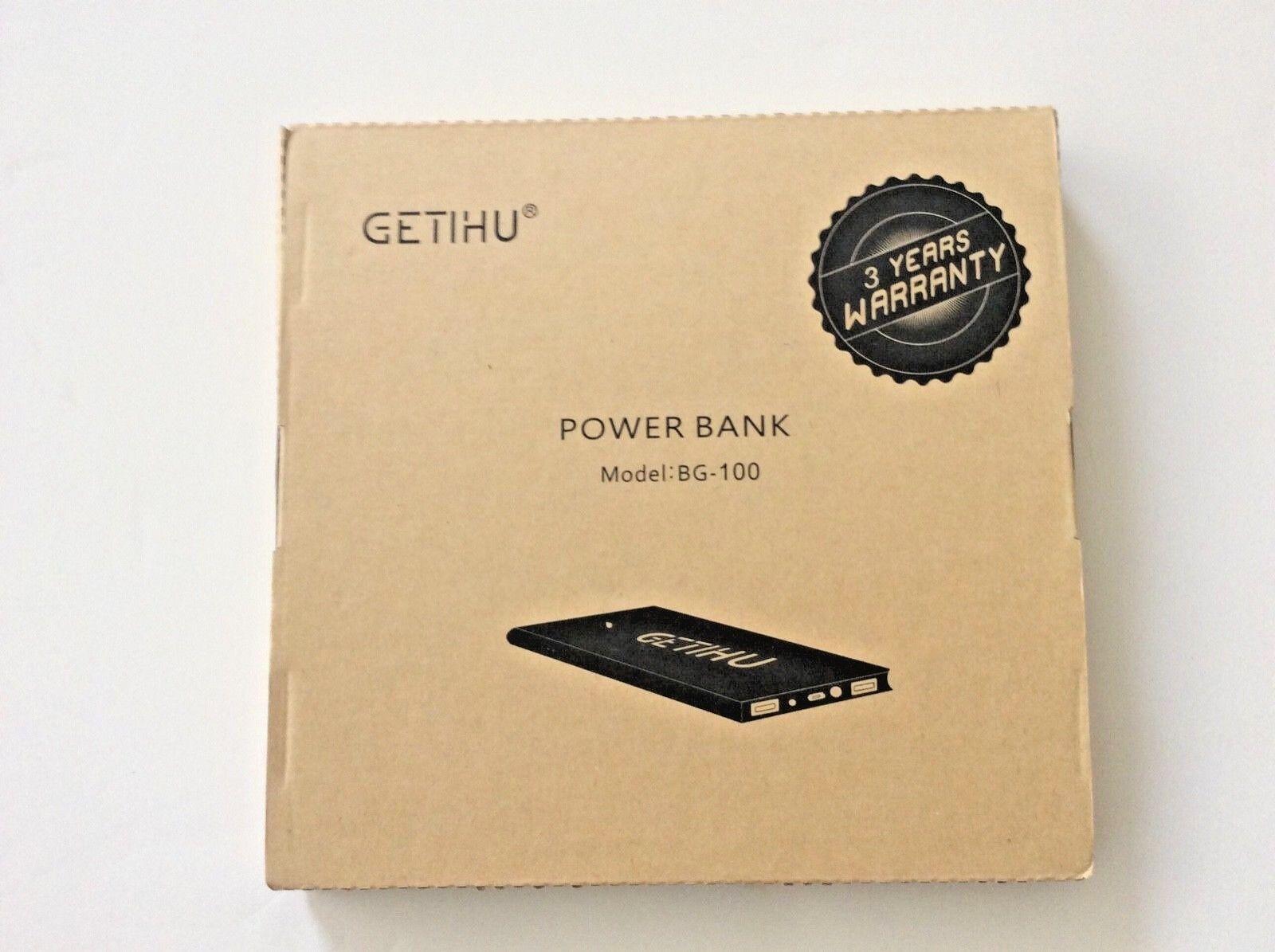 GETIHU Phone Charger 10000mAh Portable Power Bank Ultra Slim
