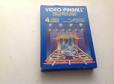 VIDEO PINBALL ATARI 2600 GAME CARTRIDGE CX2648 WITH MANUAL