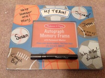 - Melissa and Doug Autograph Memory Frame Sports Bedroom Birthday Party Keepsake