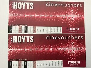2x Hoyts Cinevouchers (Student Unrestricted) MOVIE TICKETS Balga Stirling Area Preview