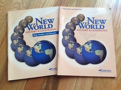 Used, Abeka New World History & Geography Map Studies and Reviews and Key for sale  Danville