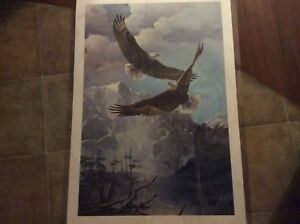 MARIO FERNANDEZ-AS FREE AS THE WIND PRINT SIGNED