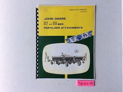 John Deere 87 And 88 Bed Fertilizer Attachments Operators Manual Oma15339