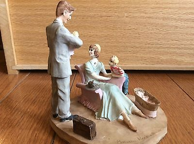 Norman Rockwell Family Dave Grossman Saturday Evening Post  Figurine New Baby