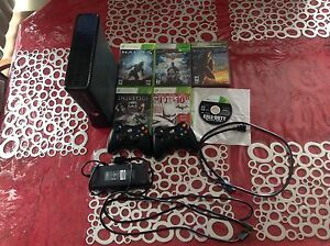 Xbox 360 with games and extra controller
