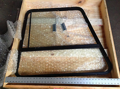 5001-0002 Martin Cab Right Side Aluminum Framed Sliding Window 50010002