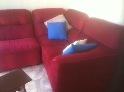 Corner five piece comfortable lounge suite Chadstone Monash Area Preview