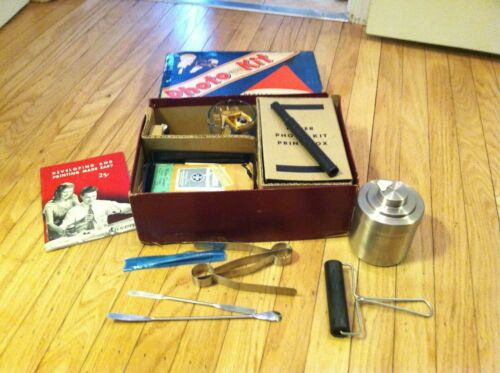 Antique Photo Developing Kit by Neder