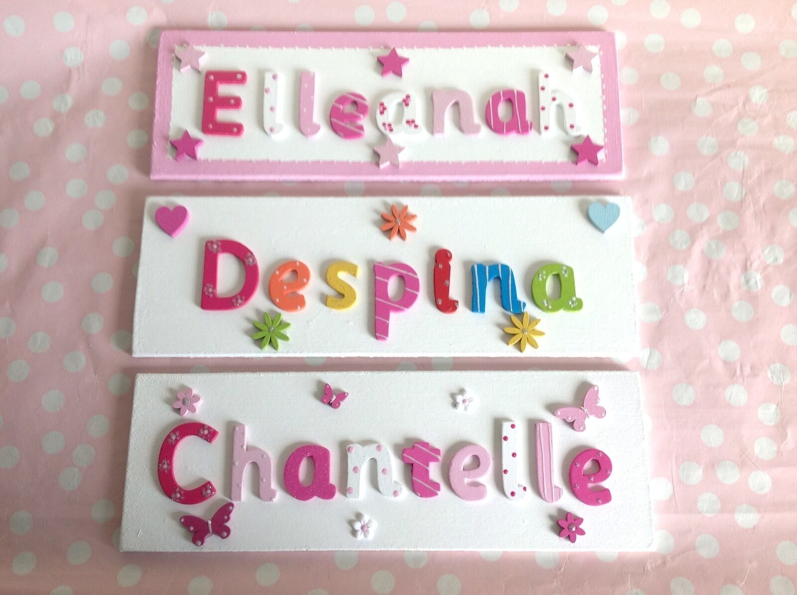 children kids name sign personalised bedroom door wall plaque - Bedroom Wall Plaques