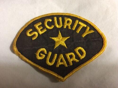 Vtg Security Guard Patch