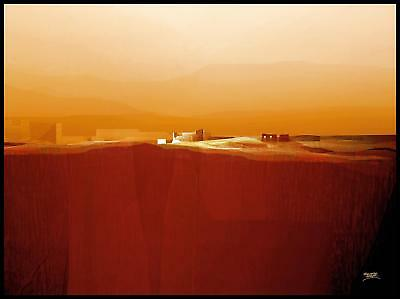 Fernando Hocevar Marvellous Landscape IV Poster Kunstdruck im Alu Rahmen 60x80cm