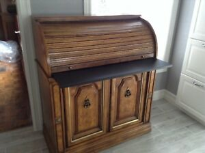 Wood Roll Top Desk