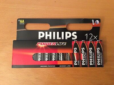 Philips Power Life Batterie AA Mignon 12er Pack Aa Power Pack