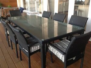 Outdoor Wicker Table seats 8 Mona Vale Pittwater Area Preview