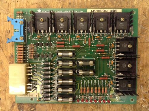 SUMITOMO JA760879BC MS-D CONTROL BOARD *REMOVED FROM WORKING MACHINE* E4