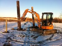 Excavator for Hire, Trenching, Bobcat, Backfilling, Post Holes