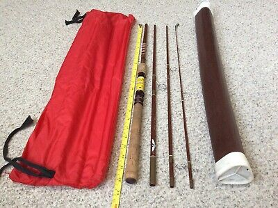 Rare Fenwick SF74-4. 7' 4 3/4oz. Voyageur 4 Pc. Travel FLY/SPIN Rod/Tube/Case
