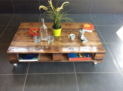 Industrial style pallet coffee table. Adelaide CBD Adelaide City Preview