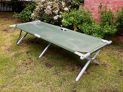 British Army Heavy Duty Aluminium Frame Folding Camp Bed (Strong American Built)