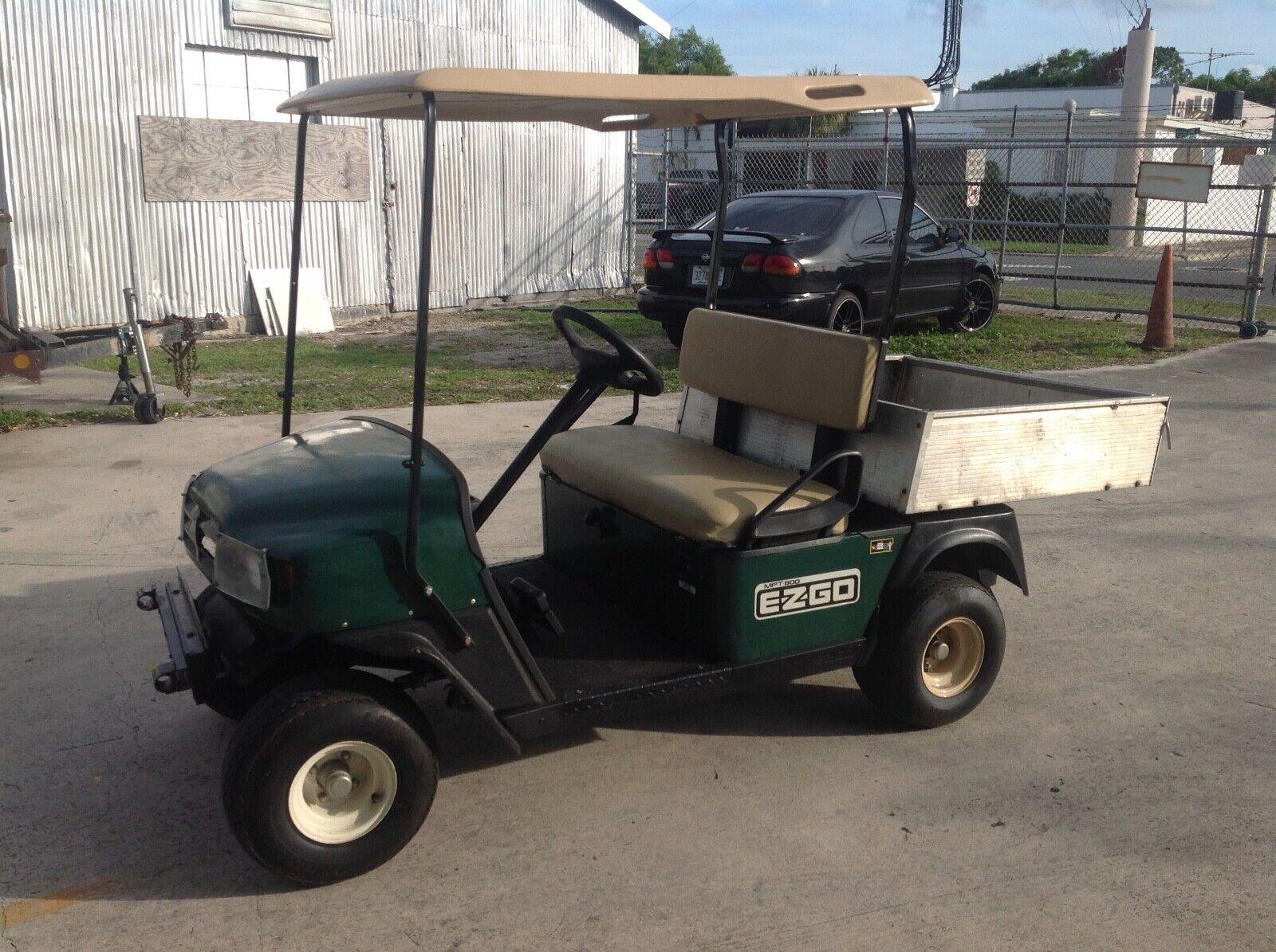 Ezgo utility mpt 800 gas green cargo bed box golf cart