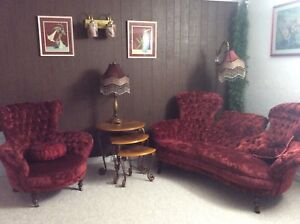 Antique sofa and chair.  1500$ obo
