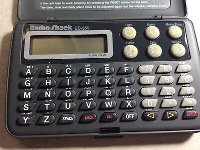 Radio Shack EC-355 Electronic Organizer for notes memos clock etc