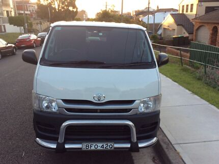 2008 Toyota Hiace TRH201R , LWB 5 Speed manual van , white , Maroubra Eastern Suburbs Preview