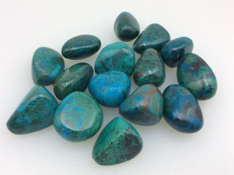 One (1) Small Tumbled Chrysocolla Stone of Tranquility Crystal Healing