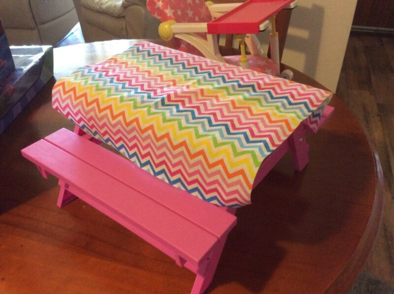 Dolls High Chair And Picnic Table