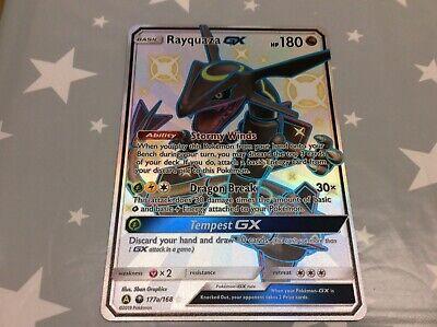 Rayquazza gx 177a/168 jumbo Pokémon card