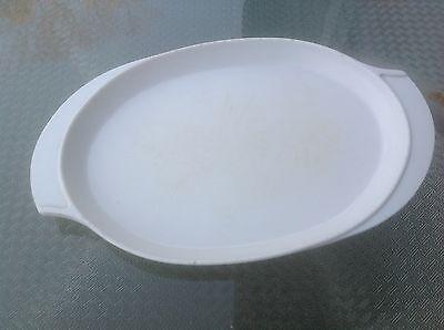 "Vintage Boonton White Two Handled 9"" Serving Platter Melmac Melamine NJ USA"