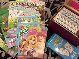 Colouring books and flash cards