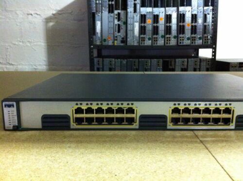 Cisco 24 Ethernet 10/100/1000 Ports Catalyst Switch Ws-c3750g-24t-e