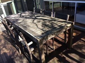 Outdoor Dining Table and Chairs Elanora Heights Pittwater Area Preview