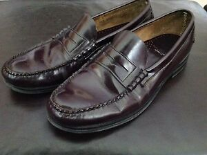 Men's dark brown leather dress shoes size 9.5