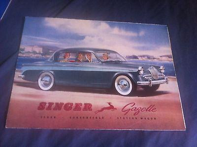 1960s Rootes Singer Gazelle Color Brochure Prospekt