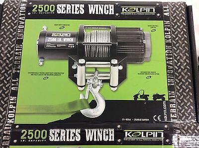 NEW 25-9250 Kolpin 2500 lb Winch & Mount for Polaris SPORTSMAN,ACE,SCRAMBLER