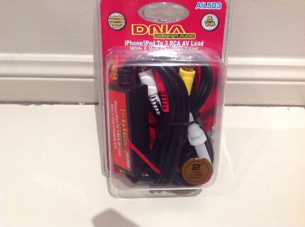 DNA IPhone/IPod to RCA AV/AUDIO Lead with 5 Volts Charging Lead AIL503