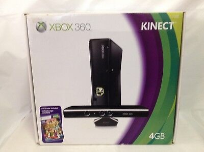 Microsoft Xbox 360 with Kinect 4GB Black Console (NTSC) - Brand New