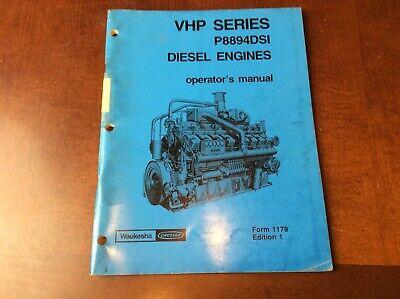 Waukesha Vhp Series P8894dsi Diesel Engines Owner Operator Maintenance Manual