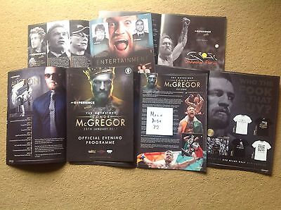NOTORIOUS CONNOR McGREGOR UFC CAGE FIGHTER OFFICIAL PROGRAMME FLOYD MAYWEATHER