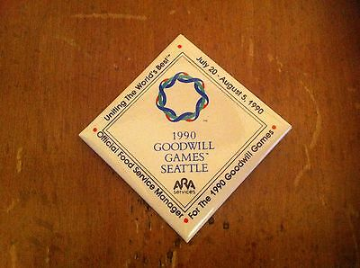 Vintage 1990 Goodwill Games Seattle Button Pin Pinback Badge Olympic Olympics