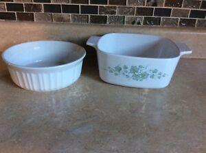 2 corningware dishes