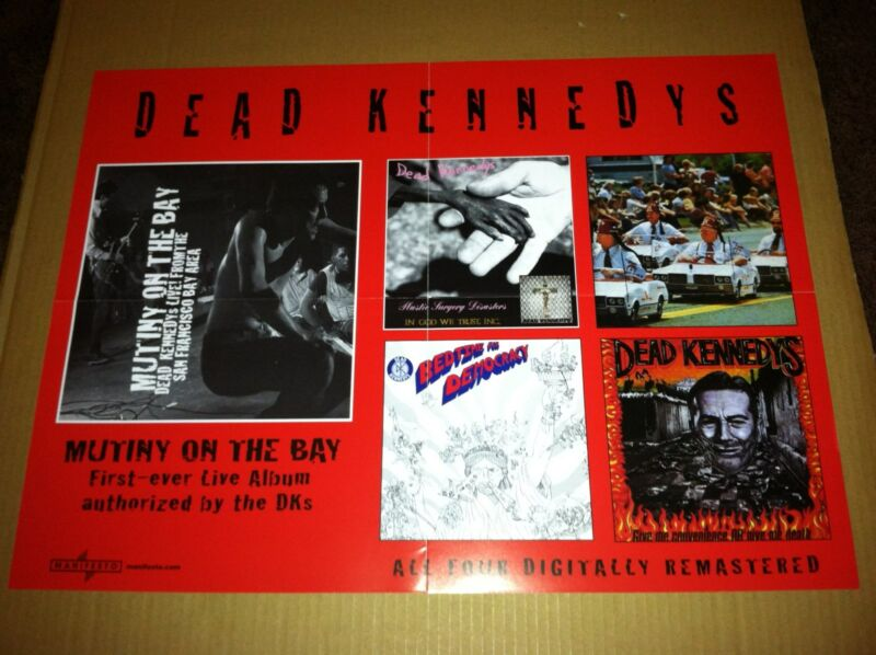 DEAD KENNEDYS 2001 PROMO POSTER for Mutiny On the Bay  CD USA NEVER DISPLAYED