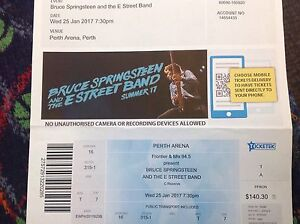 Bruce Springsteen ticket Bicton Melville Area Preview