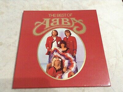 ABBA *THE BEST OF* BOX WITH 4 RECORDS CLUB EDITION PORTUGUESE EXC