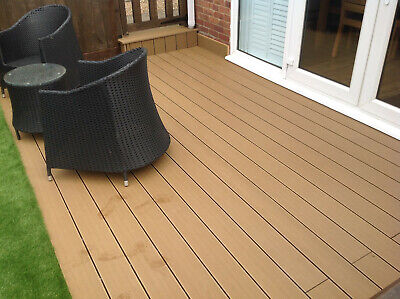 Composite Decking Boards 2.4 and 4m Length Hollow Various Colours